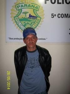 Rosalino Policeno foi preso, suspeito pelo roubo.