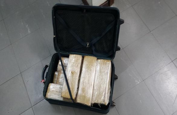 Droga era transportada numa mala de viagem. Foto: Assessoria PF