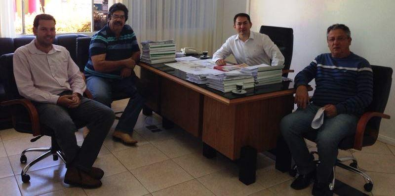 Na foto Edson Cassaniga, sady Loureiro, Luis Fernando e Cesar Baptista.