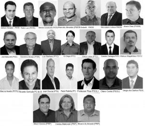 Conheça os candidatos à suplência (Clique para ampliar)