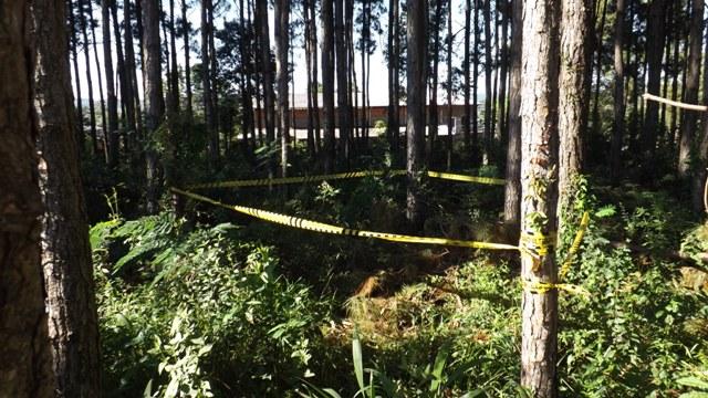 Local onde foi encontrado o corpo. Foto: Divulgação