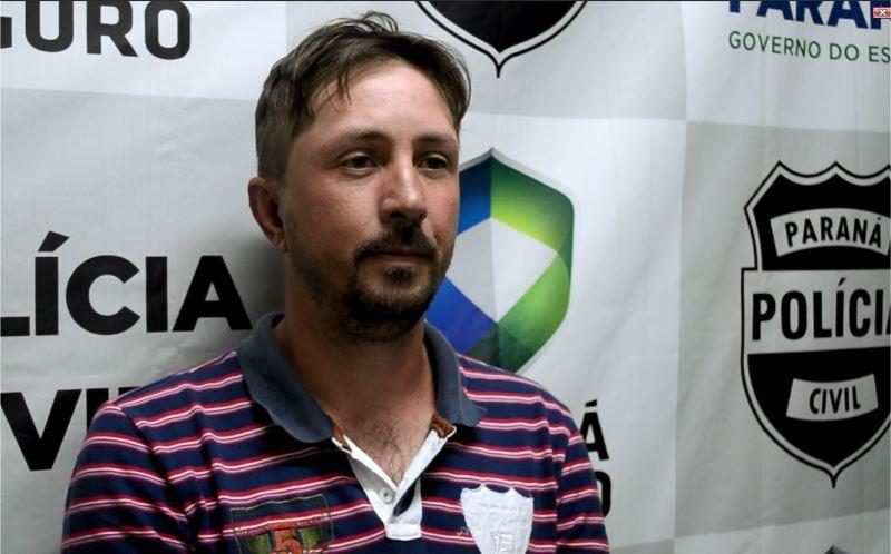 Júlio Cesar Kobeski 36 anos, preso em flagrante