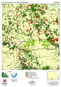 Mapa Palmas 2000-2013 Fonte:SOS Mata Atlântica