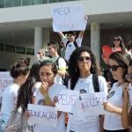 Apoio dos estudantes.