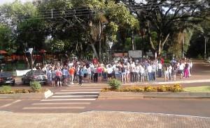 Mobilização na Praça Central - Foto: Edson Zuconelli.
