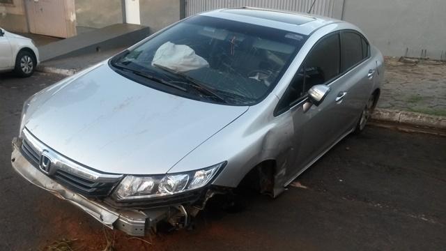 Honda Civic foi encontrado em Guaíra/PR. Foto: Divulgação