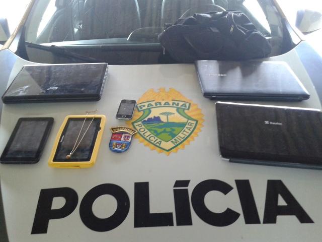 Objetos furtados foram todos recuperados. Foto: Evandro Artuzi