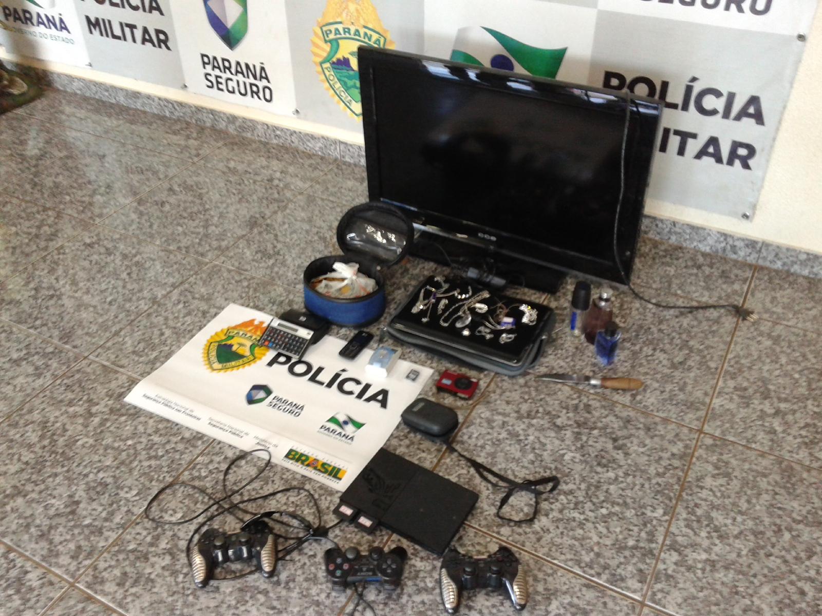 Objetos que seriam levados pelos acusados. Foto: Evandro Artuzi