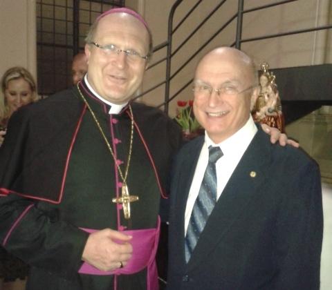 Dom José Peruzzo (arcebispo de Curitiba) com Dep. Osmar Serraglio. Foto: Assessoria