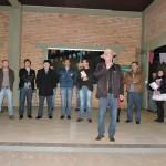 Autoridades na abertura da festa.