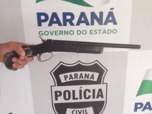 Arma usada no roubo. Foto: Polícia Civil