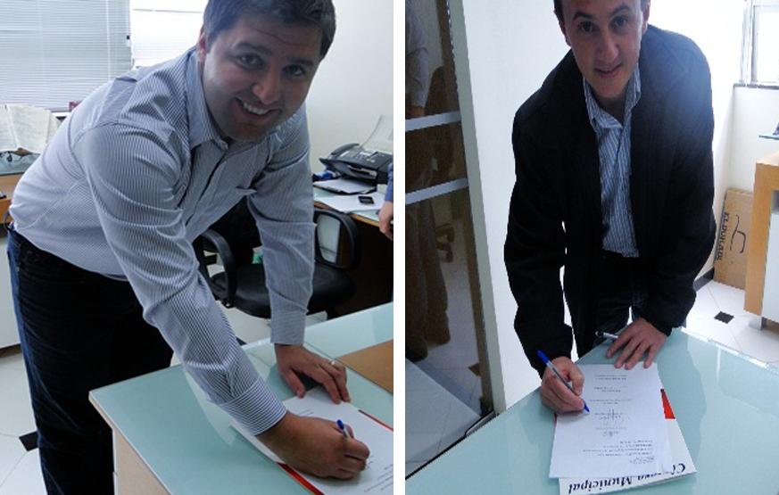 Prefeito Valério e Ver. Modena assinaram proposta da RA