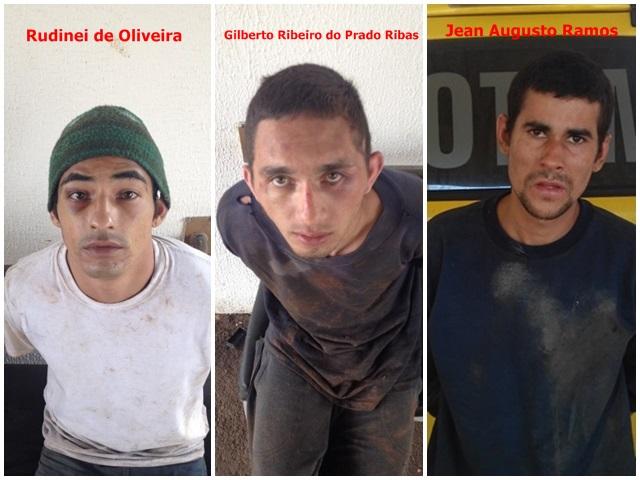 Presos recapturados pela polícia.