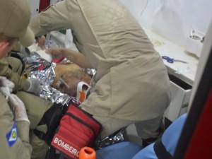 Arildo foi socorrido por Bombeiros, mas morreu ao dar entrada no hospital. Foto: Rádio Sorriso AM