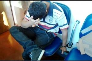Guilherme Carlos Camosi, 19 anos, preso pela PM. Foto: Evandro Artuzi.