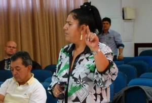Maria Conceição de Souza falou sobre os problemas existes no setor de saúde.