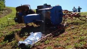 Agricultor morreu na hora. Foto: Preto Tessaro (TV Sudoeste)