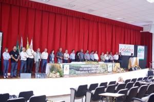 Mais de 20 entidades envolvidas nas discussões sobre solo no auditório da Unioeste. Foto de divulgação