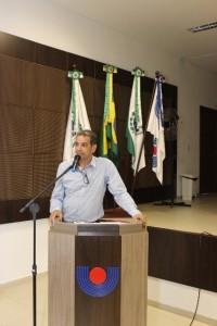 Reitor em exercício, Silvio César Sampaio, falou durante o lançamento do vestibular. Foto de divulgação