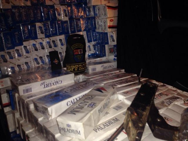 Cigarro apreendido totalizou 25 caixas. Foto de divulgação