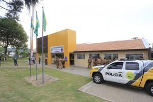Nova Companhia da Polícia Militar em Santo Antonio do Sudoeste. Foto: Arnaldo Alves / ANPr.