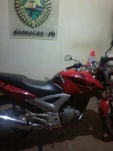 Honda Twister furtada em SC teve cor e placa adulteradas. Foto: Polícia Militar