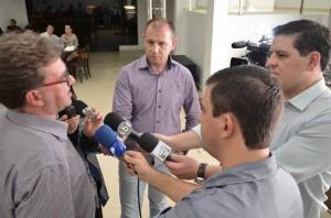 Marcos Guerra, presidente da Acefb, durante coletiva à imprensa regional. Foto de divulgação