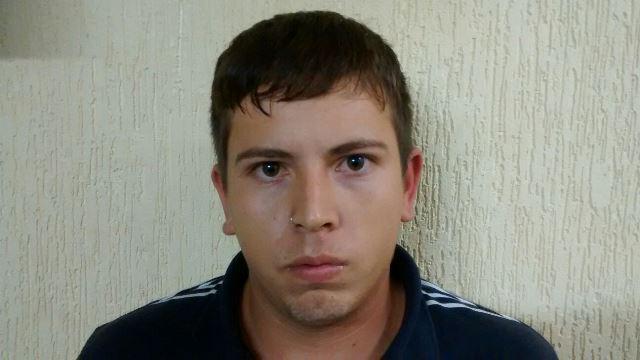 Marcelo Augusto Prado, 21 anos, foi preso em flagrante. Foto: Polícia Militar