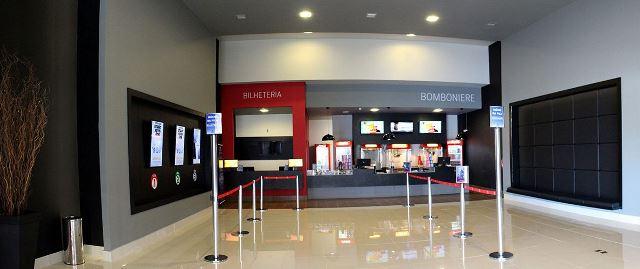 Acesso principal às salas de cinema. Foto de divulgação
