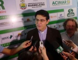 Reginaldo Manzotti atendeu profissionais de imprensa e falou sobre sua carreira de evangelizador. Foto: Viviane Kich