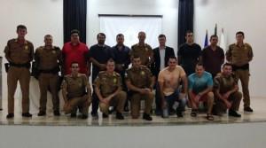Equipe da Polícia Militar de Salto do Lontra. Foto: Wesley Hoinatz