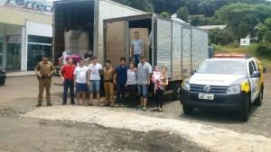 Doações foram entregues à Ação Social de Manfrinópolis. Foto de divulgação