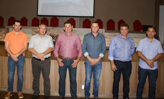 Integrantes da nova diretoria da Amsop, comandada por Bandeira. Foto de divulgação