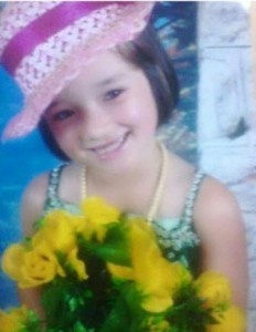 Bruna Izabele Pereira, 7 anos. Foto: Arquivo familiar