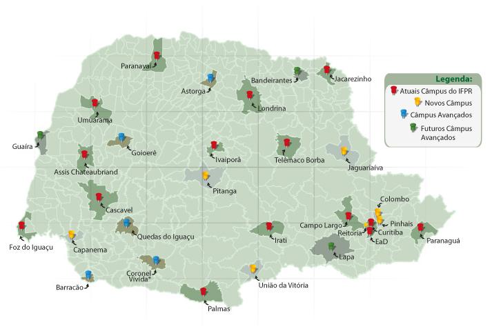 Estrutura do Instituto Federal do Paraná