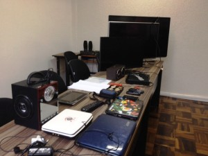 Objetos recuperados pela Polícia Civil.