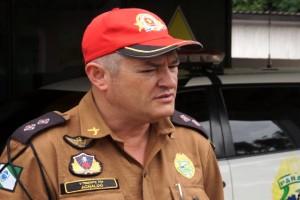 Tenente Aguinaldo Cezar Pereira, sub comandante da 6ª Cia da PRE. Foto: Evandro Artuzi