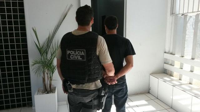 Edinei Goetz Pereira, 23 anos, foi recolhido ao Secat da 19ª SDP. Foto: Divulgação Polícia Civil
