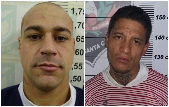 Charles Adriano Mariano de Lima e Fabio Fernando de Souza. Fotos: Divulgação Depen/ PMSC