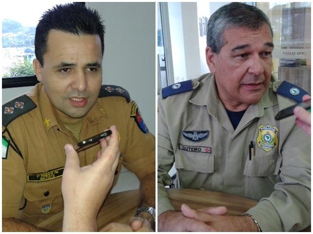 Tenente Batista (PRE) e Inspetor Outeiro (PRF). Foto: Arquivo RBJ