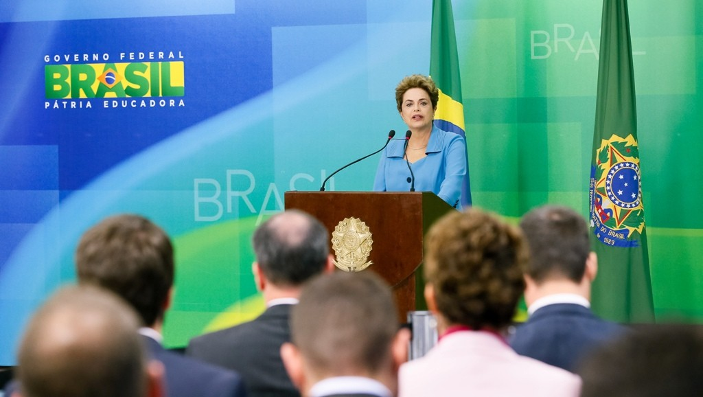 Presidenta Dilma Rousseff durante declaração à imprensa. Foto: Roberto Stuckert Filho/PR
