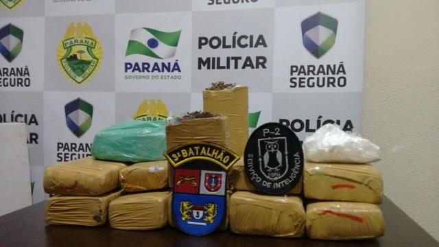 Droga foi entregue na 5ª SDP. Foto: Divulgação PM