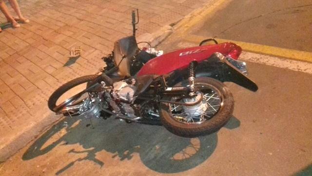 Moto Honda Biz que era pilotada por Dircei Assis Lunelli. Foto: Arquivo RBJ