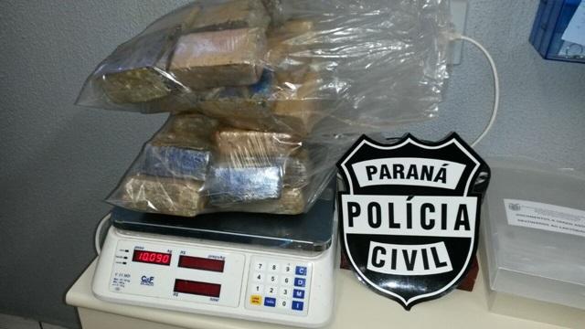 Maconha, que pesou 10 Kg, estava escondida nas caixas de ar. Foto: Polícia Civil