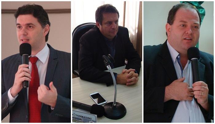 Cleber Fontana (PSDB), Aires Tomazonni (PMDB) e Roberson Fieira (PT) fizeram uso da tribuna. Foto de divulgação