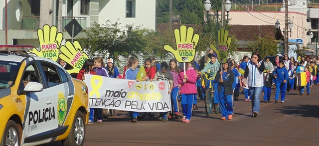 Polícia, comunidade e estudantes aderiram ao movimento. Foto: Assessoria