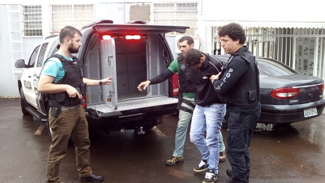 Alex Thialy Ribeiro, 22 anos, foi preso em Verê nesta sexta-feira (20). Foto: Evandro Artuzi/RBJ