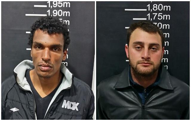 Tiago Francisco da Silva, 26 anos, e Pedro Natan Fernandes Caetano, 24 anos. Foto: Divulgação PM