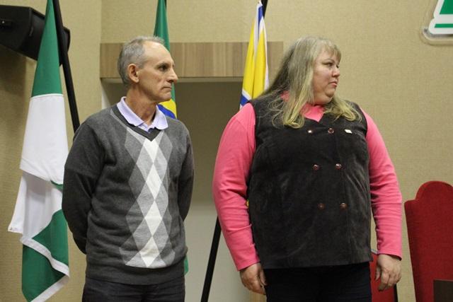 Os pesquisadores Gilmar e Andreia que serão os representantes da Embrapa no Sudoeste. Foto de divulgação