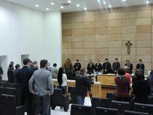 Fim do julgamento em Guarapuava. Foto: Francione Pruch